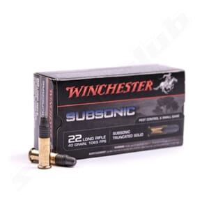 WINCHESTER 22 LR Subsonic 40grs.
