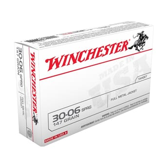 WINCHESTER 30-06 FMJ 147 grs. USA