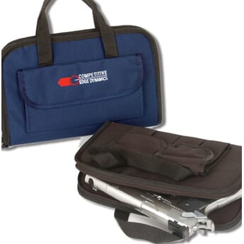 CED 1400 Large Pistol Bag Black (Scoped)
