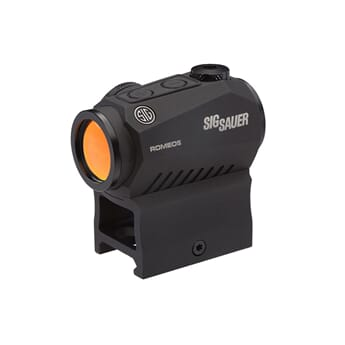 SIG ROMEO5 COMPACT RED DOT SIGHT, 1X20MM, 2 MOA RED DOT, 0.5