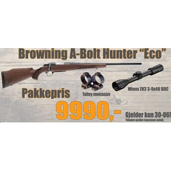 "BROWNING A-Bolt ""Eco"" PAKKETILBUD"