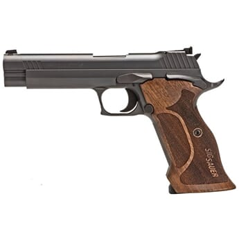"SIG P210 9MM 5"" TARGET BLK SAO ADJUSTABLE SIGHTS WALNUT GRI"
