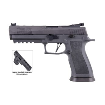 "SIG P320 9MM 5"" LEGION GRAY  STRIKER FIBER OPT FRONT W/ R2"
